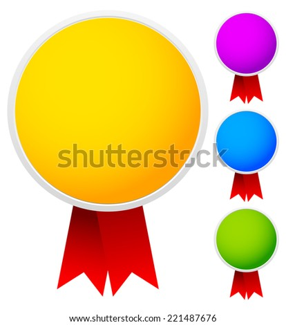 Bright, colorful badges