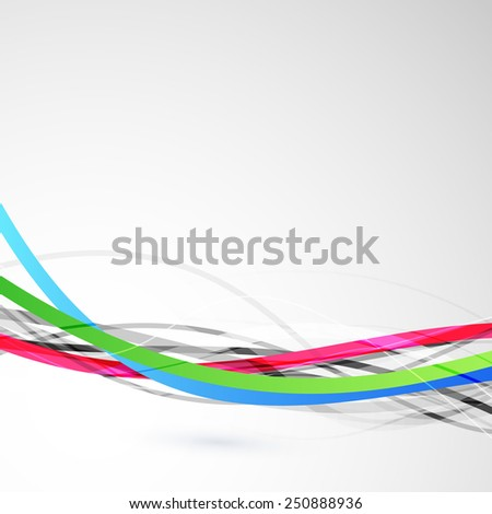 Bright colorful cable bandwidth speed line. Vector illustration - stock vector