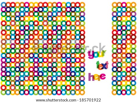 bright colorful circles background - stock vector