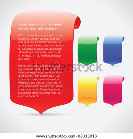 Bright Colorful Shapes - stock vector