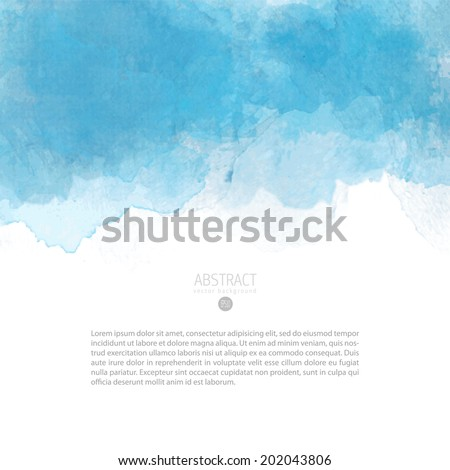 Bright colorful vector watercolor background - stock vector