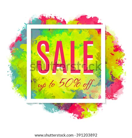 Bright design for your sales, discounts and promotions. Modern style. It can be used for sale banners, sale flyers, outdoor printing sale price tags. - stock vector