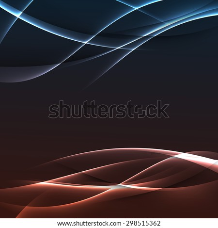 Bright electric modern swoosh line background abstract power streak stream futuristic template. Vector illustration
