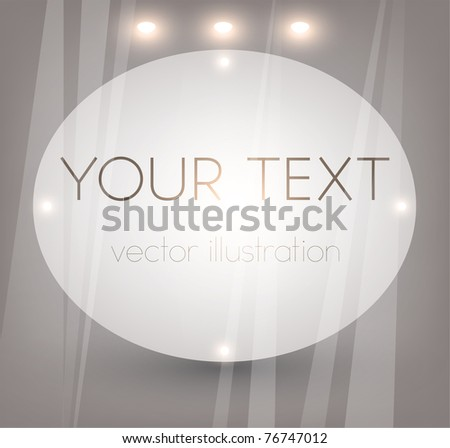 Bright Empty storefront. You can change colors for the background, eps10 vector - stock vector