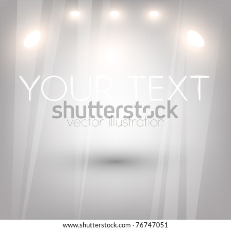 Bright Empty storefront. You can change colors for the background, eps10 vector