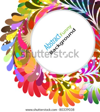Bright Exotic floral elements on white background - stock vector