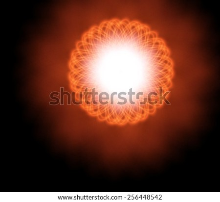 Bright fantastic glow in the space. - stock vector