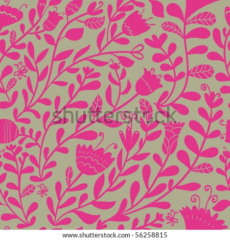 Bright floral seamless pattern - stock vector