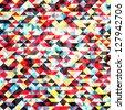 Bright geometric modern background, vector illustration - stock vector