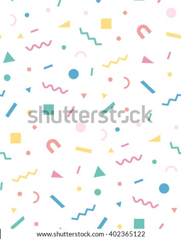 Bright geometric pattern in the style of the 80's 90's for the cover design, background, cover, fabric, fashion. Holiday repeating pattern - stock vector