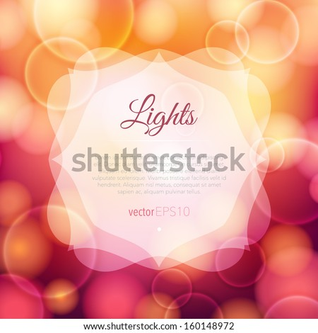 Bright glowing background - stock vector