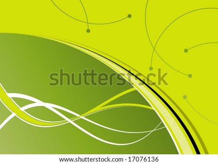 bright green background - stock vector