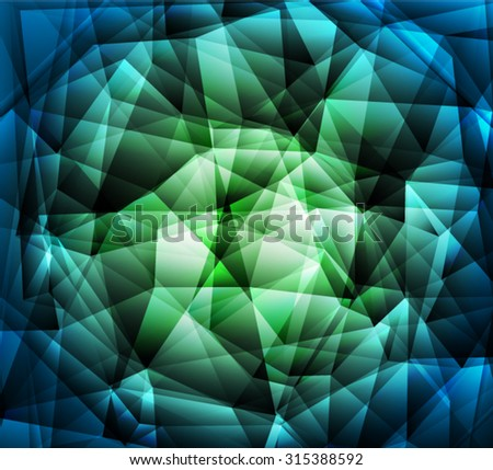 Bright green polygon abstract background.Vector EPS 10 illustration. - stock vector