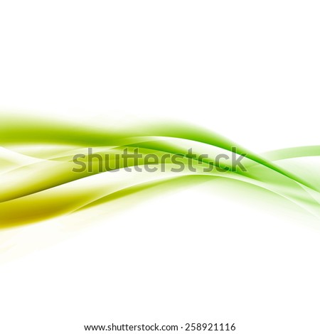 Bright green speed swoosh line abstract modern layout. Vector illustration - stock vector