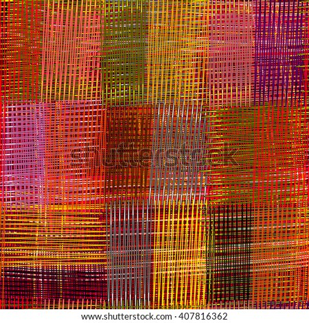 Bright grunge striped,checkered,quilt weave cloth colorful seamless pattern   - stock vector