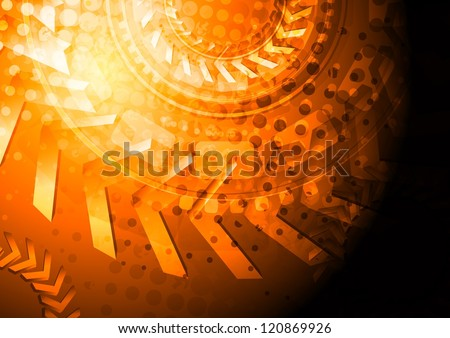 Bright grunge tech backdrop with 3d arrows. Eps 10 vector background - stock vector