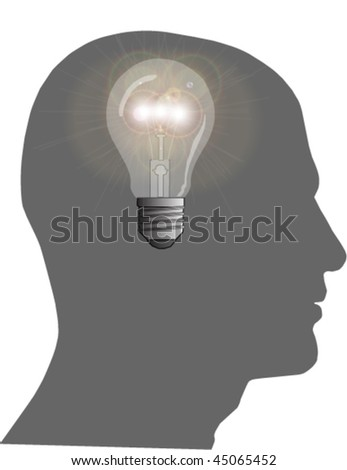 Bright Idea Vector Illustration - stock vector