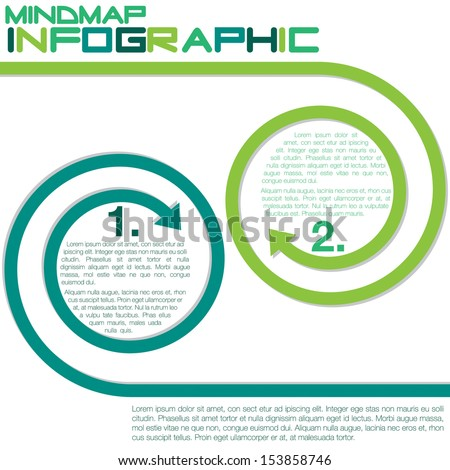Bright infographic arrows in vector format. - stock vector