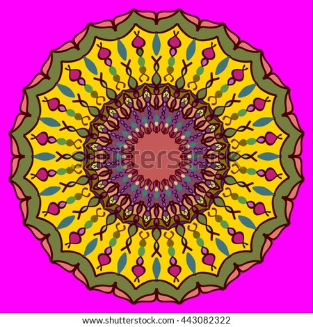 Bright mandala for children. Vector mandala