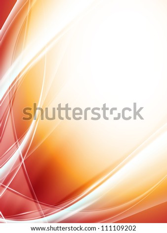 bright modern vector background with wavy lines and copy space. Eps10 - stock vector