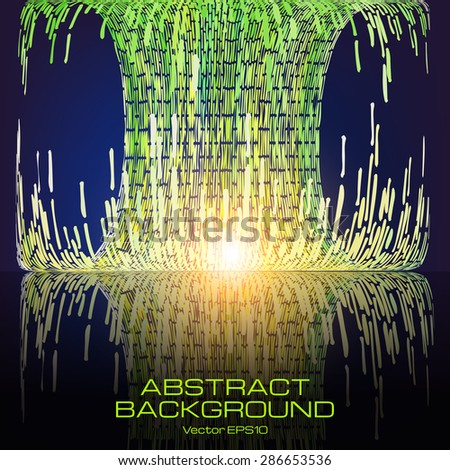 Bright mosaic background. The illustration contains transparency and effects. EPS10  - stock vector