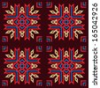 bright multicoloured ethnic stylish seamless pattern in red, blue, beige and dark violet colours. repeating geometric tiles. vector illustration background.  - stock