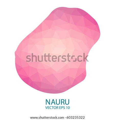 Bright Nauru Map National Colors Geometric Stock Vector - Nauru map vector