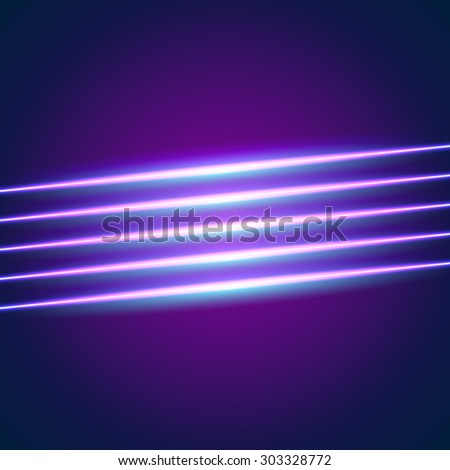 Bright neon lines background with 80s style.blue. - stock vector