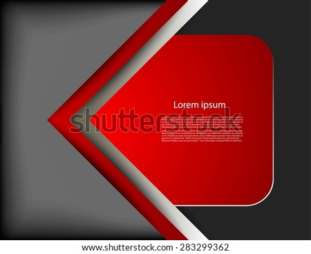Bright page on gray background - stock vector