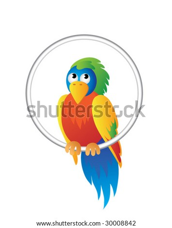 Bright parrot - stock vector