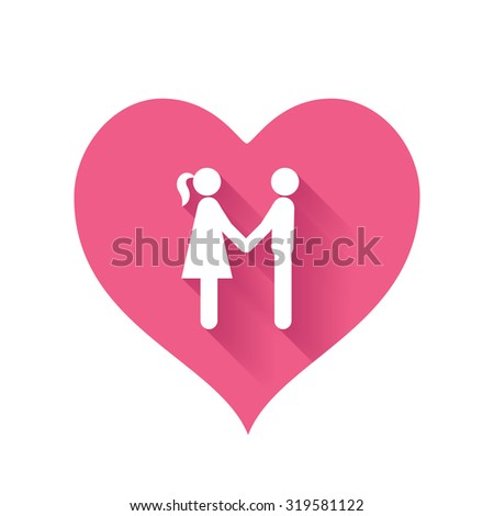 Bright pink heart icons of love relationships for Valentines Day - stock vector