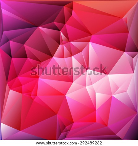 Bright pink polygon abstract bacground.Vector EPS 10 illustration. - stock vector