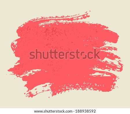 Bright pink watercolor brush vector strokes on light background. - stock vector