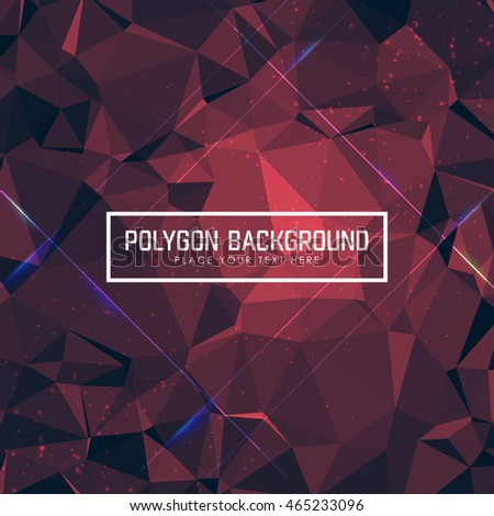 Bright polygonal background in color Red, Vector illustration, Creative Business web Design Templates