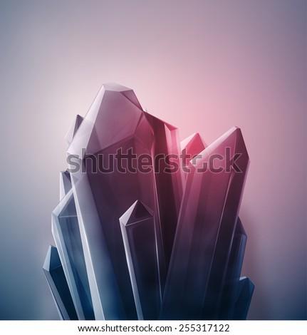 Bright precious crystal, eps 10 - stock vector