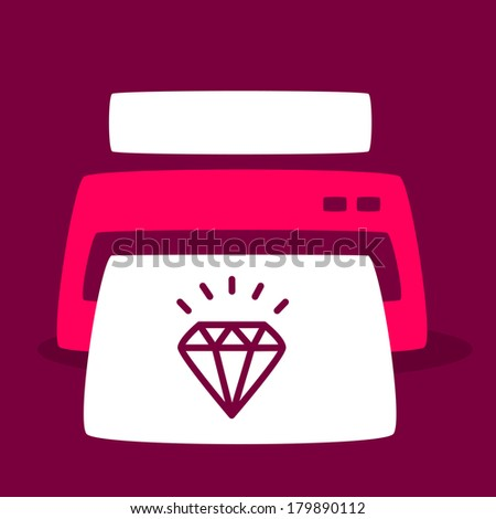 bright print out images diamond. - stock vector