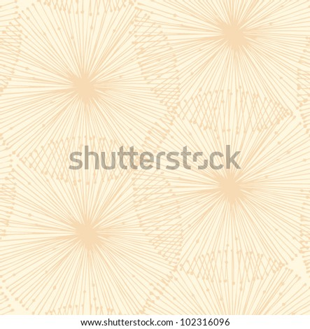 Bright radial elements. Seamless background for patterns, cards, textile, wallpapers, web pages - stock vector