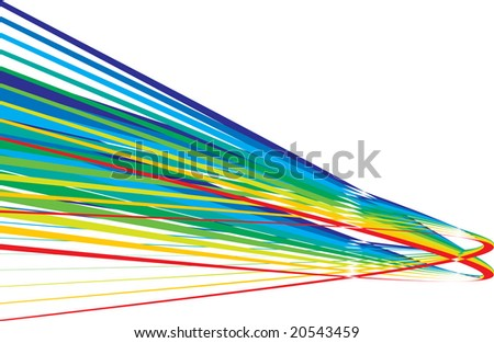 Bright raibow on a white background. Vector