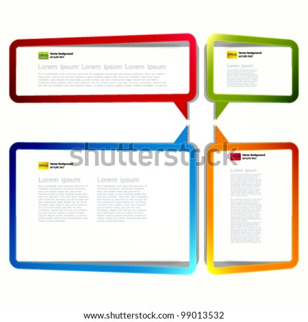 Bright rectangular stickers in the form of an empty frame for your text. - stock vector