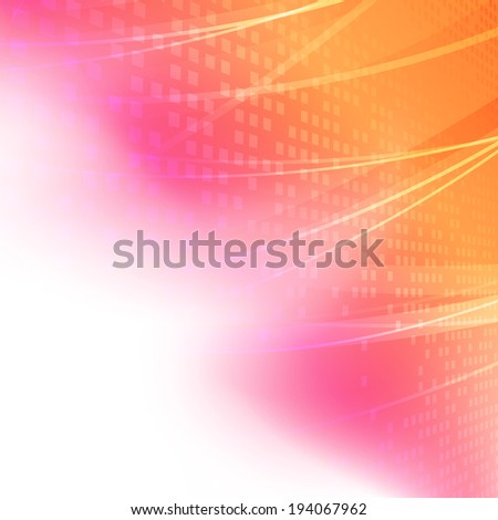 Bright red orange background with lines. Vector illustration - stock vector