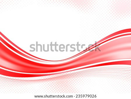 Bright red speed swoosh background line. Vector illustration - stock vector