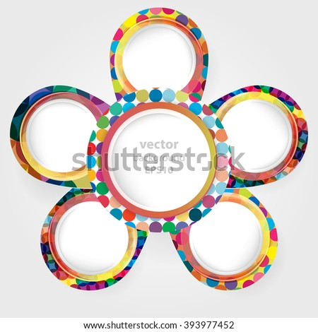 Bright round frames with space for your text. Vector illustrasion. - stock vector