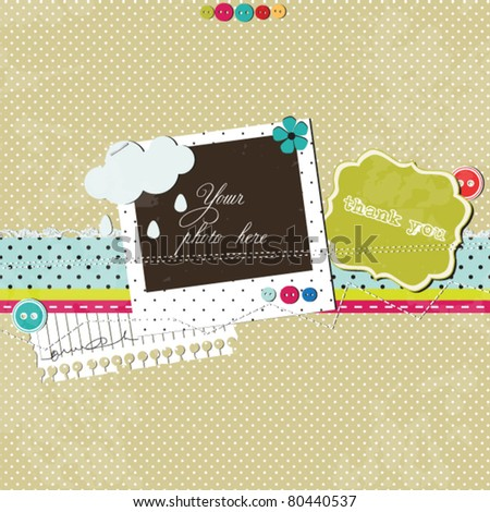 Bright scrap template - stock vector