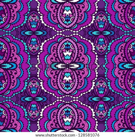 Bright seamless eastern pattern - stock vector