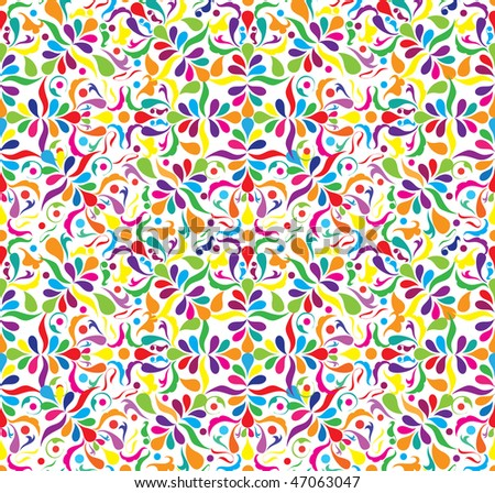 Bright seamless patten with little components, vector illustration - stock vector