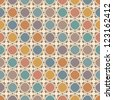 Bright seamless pattern with colorful diagonal spots - stock photo