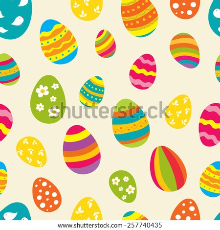 Bright seamless vector pattern easter eggs stock vector 257740435 bright seamless vector pattern with easter eggs ideal for celebration card wrapping paper negle Choice Image