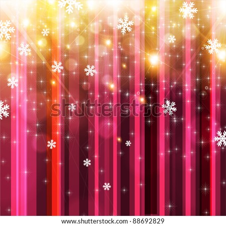 Bright shine Christmas background, place for greeting text - stock vector