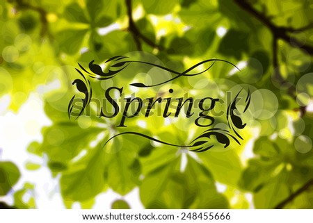 Bright spring background. Vector - stock vector