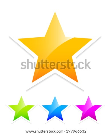 Bright stars - stock vector
